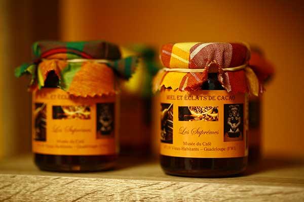 miel éclats de cacao guadeloupe